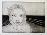 """""""Head Rush"""" Drypoint on Rives BFK 9"""" x 12"""""""