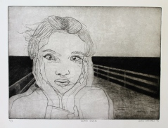 """Head Rush"" Drypoint on Rives BFK 9"" x 12"""