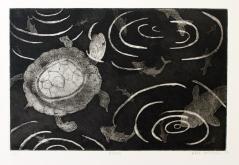 """Pond"" Aquatint on Rives BFK Etching on Rives BFK 6"" x 9"""