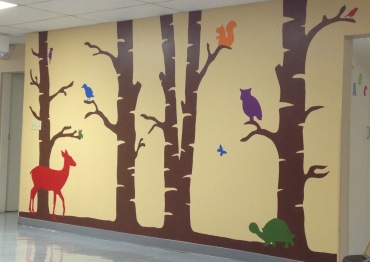 Mural located at the Moses Cone Outpatient Therapy children's gym
