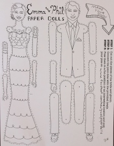 Paper Doll wedding favor