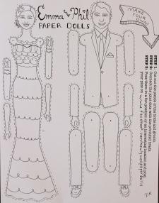 Paper Doll wedding favor