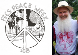 Design featured on Guilford College's PECS Peace Week 2015 t-shirt