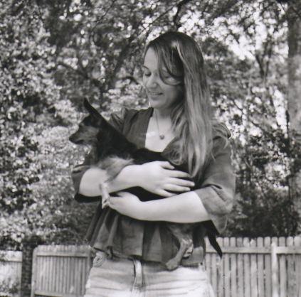 Fran and dog